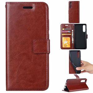 Кожаный бумажник чехол для Redmi 8 8A 7 Примечание 8 Pro Xiaomi CC9E A3 Sony Xperia 5 XZ5 Crazy Horse масло ID слот держатель откидная крышка роскошь