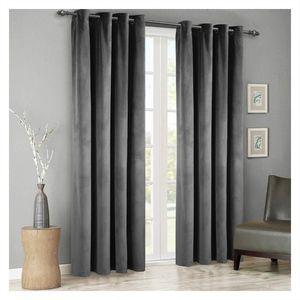 Modern Sólidos Velvet cortinas Blackout para Sala Quarto macio e confortável Blinds do Windows Cortina de tamanho personalizado Plain Porta T200323