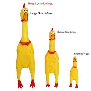 17 * 4CM لعب الأطفال متعة الصراخ والدجاج المطاط الأصفر الصغيرة الحيوانات الأليفة صار مضغ لعبة الساخن بيع
