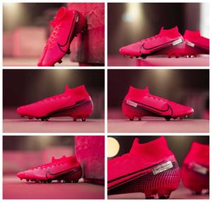 2020 nova chegada dos homens chuteiras Mercurial Superfly 7 Elite CR7 FG chuteiras de futebol Neymar botas de futebol chuteiras rosa barato