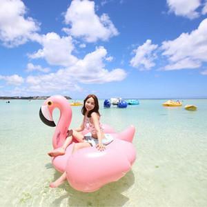 Piscina adulti partito 205 * 200 * 128 centimetri Flamingo Galleggianti zattera addensare gonfiabile gigante Flamingo Pool Galleggianti del tubo Zattera DH1069-1 T03