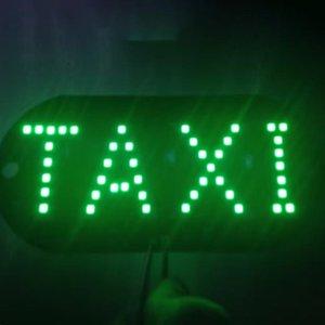 Taxi libre universal de luz LED Práctico sesión Taxi Roof Top Light Vehicle sesión del parabrisas del bulbo de lámpara de señal de coches Decoración