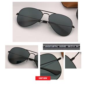 novo 58 milímetros 62 Homens Marca protecção Designer uv Pilot óculos de sol Sunglass Mulheres Driving lente preto Sun vidro vidros Lensr Acessórios gafas