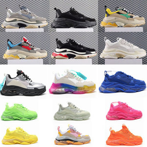 2020 Fashion Klar Sole Bottom Paris 17FW Triple S Mens rosa Turnschuhe Dad-Plattform-Frauen-beiläufige Schuh-Sport-Trainer