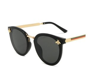 2020 óculos de sol novos abelha verde vermelho Moda UV óculos óculos vintage retro rodada