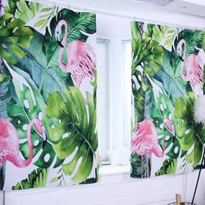 Finestra di stampa Meijuner tende Nordic tropicale Digital Curtain Blackout Curtain poliestere pianta verde Drape Per Camera