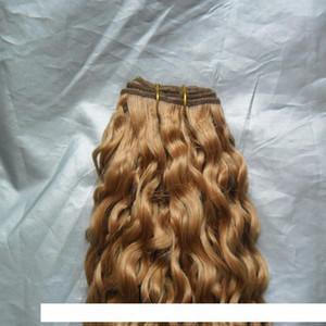 A Brazilian Virgin Hair Honey Blonde 10 &Quot ;-26 &Quot ;Brazilian Water Wave 100g Pcs Human Hair Bundles Double Weft Remy Hair Weave