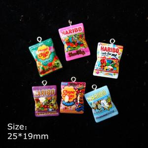 Charms economici resina Candy incanta i pendenti per bracciali decorazione della collana dell'orecchino dei monili della catena chiave Fare posteriore piana della resina