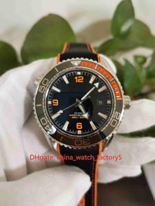Artículos calientes alta calidad Orange Movimiento 43.5mm Planeta Océano Co-Axial Asia CAL.8500 transparente mecánico automático del reloj para hombre Relojes