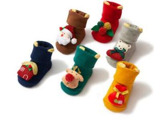 Natal meias antiderrapantes bebê recém-nascido