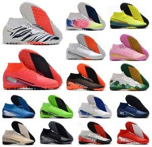 Mercurial Superfly 7 VII 360 Elite TF IC Indoor Turf CR7 Safari Ronaldo Neymar NJR Korea мужская футбольная обувь футбольные бутсы бутсы размер 39-45
