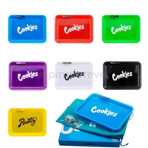 Cookies SF California Glowtray Voice Control LED Cookies Rolling Glow Tray Yellow Runtz Packaging Paper Box Rolling 420 Dry Herb Flower
