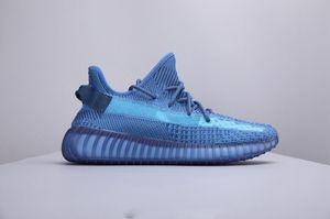 Горячая продажа Kanye West Static V2 EF2367 FV3255 Светоотражающие 3M Открытый кроссовки моды на открытом воздухе Спортивная обувь size36 ~ 45
