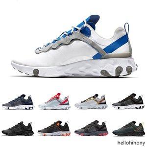 React Element 55 running shoes for men women white black NEPTUNE GREEN blue mens trainer designer breathable sports sneakers size 36-45