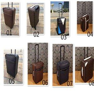 """شحن مجاني المتداول الأزياء الأمتعة مصمم جودة عالية أربع عجلات عربة حقيبة السفر حقيبة الرجال 20 """"24"""" على ترحيل الأمتعة لwomenFR"""