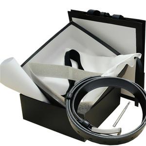 Cinture Womens Belt Mens cuoio genuino cinture nere delle donne serpente grande fibbia in oro Men Classic Belt Pearl casual Cintura White Box 36 9854
