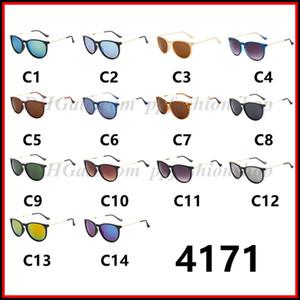 Lentes de Moda Mujer Hombres Erika Gafas marca con los vidrios de Sun Matt leopardo Gradiente UV400 14 colores 4171 gafas de sol