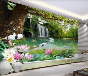 Custom any size photo 3d landscape wallpaper Landscape wallpapers painting TV sofa background wall