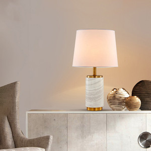 SOURCE Factory Goods Post-modern Light Luxury Bedroom Bedside Table Lamp European Style American Simple Decoration Marble Table