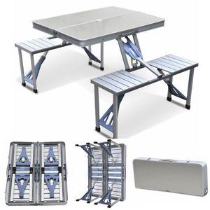 Алюминиевый складной стол для пикника Кемпинг с 4 мест Портативный набор Открытый сад