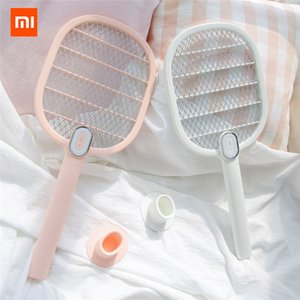 Xiaomi 3life Electric Mosquito Swatter Rechargeable Led Electric Insect Bug Fly Mosquito Dispeller Killer Racket 3-layer Net