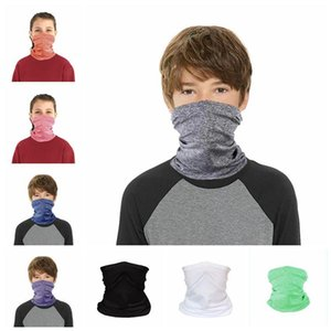 Solid Cycling Masks Sun Protection Face Cover Kids Hiking Magic Scarf Cycling Bandana without Mask Filter 19*30cm CCA12182 30pcs