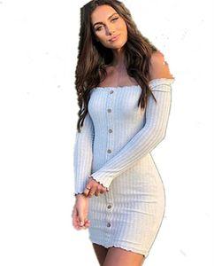 Shoulder Strapless Sexy Vestido Uma palavra Collar Sólidos em forma de cores Início Vestuário Feminino Moda Vintage Windbreak Hot Sale 23nn I1