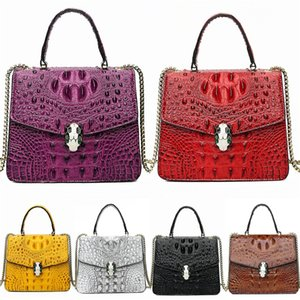 Classic Flap Chain Bag Designer Bags High Quality Women Plaid Chain Bag Crocodile Shoulder Bag Real Leather Crossbody Messenger Ba 6 Colo#870