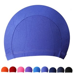 Cheap Swimming Caps Free Size Polyester Protect Ears Long Hair Sports Siwm Pool Swimming Cap Hat Adult Men Women Sporty Ultrathin Adult