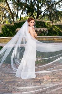 2019 merletto dell'annata di trasporto di nuovo da sposa Veli Cheap Wedding Bridal Veil lunghezza del gomito due strati nuziale Accessori CPA1441