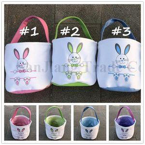 Easter DIY Банни корзины сумка Easter Canvas Barrel Ковш Сумки для ног шаблон Dots печати Лоскутного Цвета Дети Candy яйцо Подарков Тотализаторы A122105