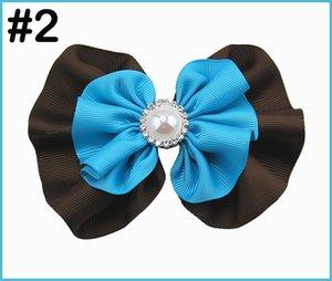 el envío libre 320pcs 5-5.5 '' pelo arcos redondos diamantes de imitación de pelo niña Arcos Accesorios manera muchacha de la perla grande