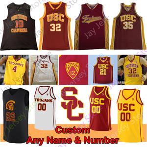 مخصص USC حصان طروادة لكرة السلة جيرسي NCAA كلية Onyeka Okongwu موبلي يونان ماثيوز ويفر Rakocevic Adlesh Vucevic O.J. مايو نيك يونغ