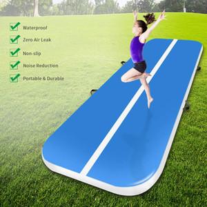Бесплатная доставка 8*2*0.2 M Air Track Gymnastics Tumbling Mat-Yijia надувной гимнастический коврик с воздушным насосом Airtrack Mat для йоги и использования в тренажерном зале