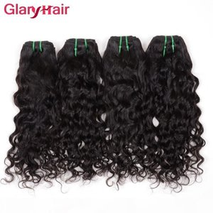 L Hot Water Wave Hair Extensions Virgin Brazilian Hair Weave Weft Big Curly Unprocessed Remy Human Hair Bundles 6pcs Lot Natural Color