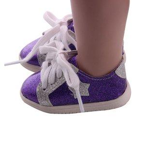 Büyüleyici Bling Bling 18inch Amerikan Doll Giydirme Dekorasyon Günlük Ayakkabılar