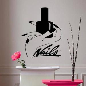 Nägel Kunst Vinyl Wandaufkleber Schönheitssalon Maniküre abnehmbare Wandtattoo Wohnzimmer Mädchen Schlafzimmer Dekor