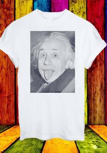 알버트 아인슈타인 재미는 스틱 밖으로 혀 남성 여성 유니섹스 T 셔츠 Dropshipping를 농담
