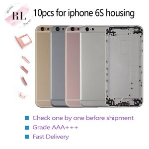 10 UNIDS marco chasis medio para iphone 6S funda para iphone 6s Asamblea cubierta batería Sim tarjeta con logo