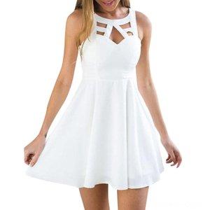 KANCOOLD dress Women Boho Back Lace Mini ALine Sundress Sleeveless Evening Party Summer Beach dress women 2018jul20