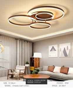 Modern Daire Yüzükler LED Tavan Işıkları Alüminyum Tavan Avizeler Yatak Odası Mutfak Yemek Odası Oturma Odası lustre plafonnier için