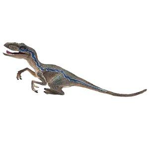 New Arrivals Blue Velociraptor Dinosaur Action Figure Animal Model Toy Collector