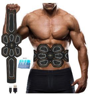 Abs stimolatore muscolare Toner SME Press Trainer Addome elettrostimolazione USB Charged Fitness Home allenamento muscolare tonificante Belt