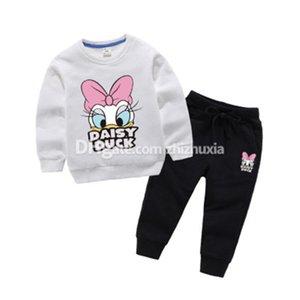 Desen Lüks Marka Sonbahar Yüksek Kalite Çocuk Pamuk sıcak Takımları Print Cartton Kız Sıcak Satış Giyim Setleri