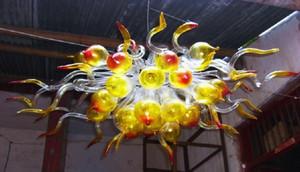 Hanging Vintage Pendant iluminação LED Light Hot Sale Mini Cristal Bolha Chandelier Modern Mão Blown Art Glass pequeno Chandelier
