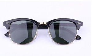 Wholesale-AOOKO Glasses Retro Club Green 51mm Black Sun Designer Women Men Fashion Hinge gray brown lens Mercury Pop New G15 49mm Sungl Aotd