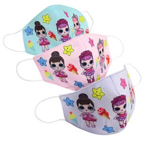 menina bonito dos desenhos animados boneca Máscara Adulto Kids Fun Fancy Dress metade inferior da face Boca Muffle máscara reutilizável poeira quente Windproof Cotton Máscara zx02