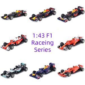 Corrida Formula Car 1:43 Diecast Metal Modelo Veículo estática Simulação presente Brinquedos Crianças