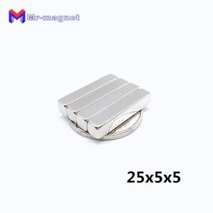 2019 imanes À durée limitée Imanes De Nevera 20pcs 25X5x5 mm Super Forte Terre Rare Magnet Aimant Permanet Bloc Puissant Aimants Au Néodyme 25 * 5 * 5