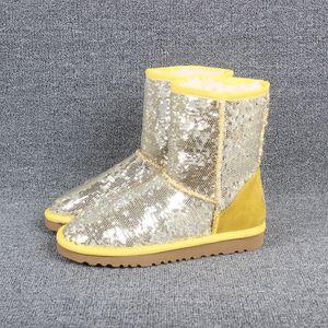 Designer-g Paillette glänzende Schuhe für Mädchen Pailletten Frauen-Winter-Schnee-Aufladungen mit Sequin Farbe für Mode Mädchen